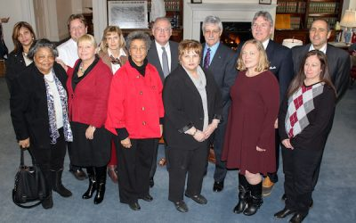 Twomey Latham and Suffolk County National Bank Present Contributions to Food Pantries