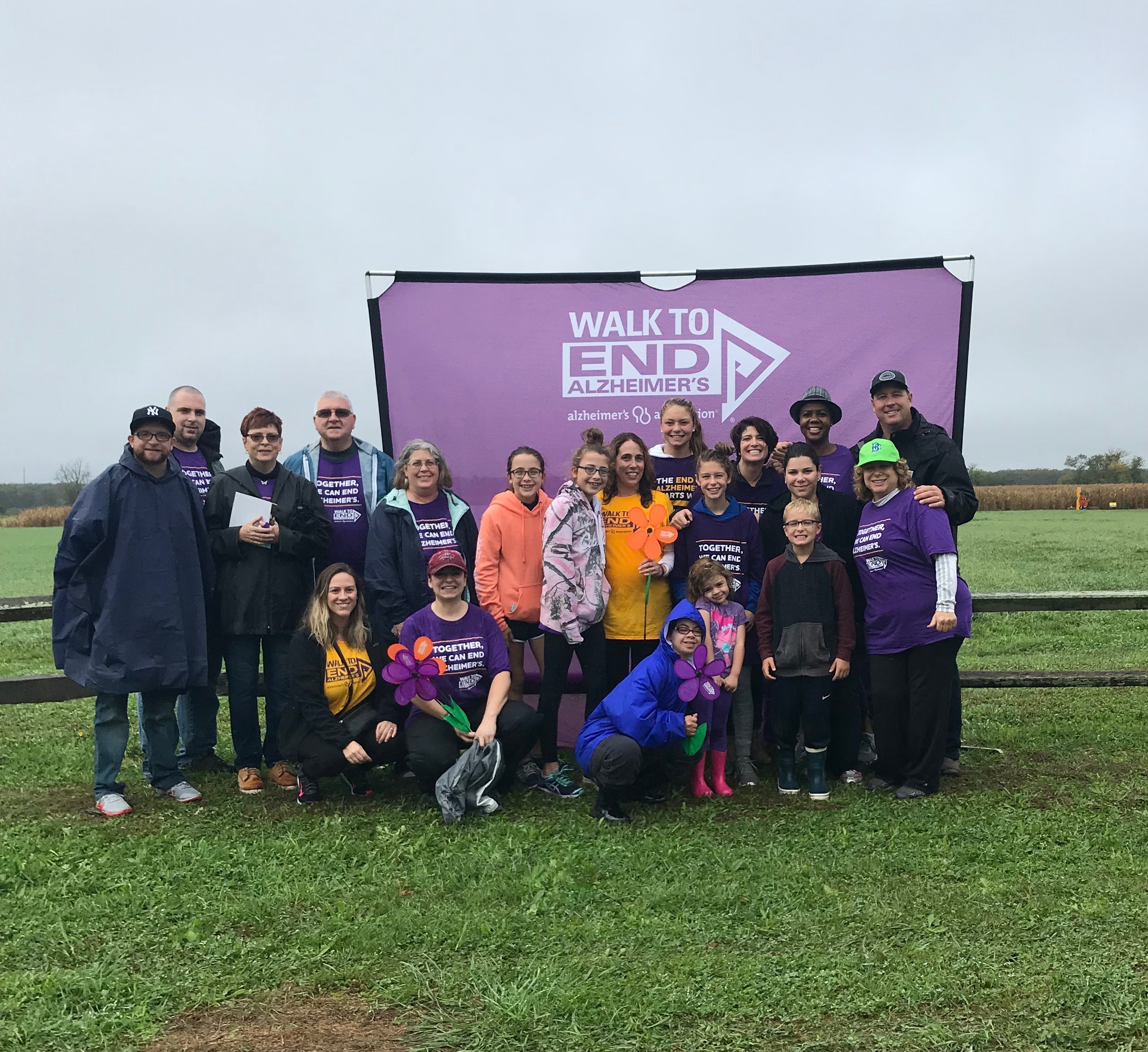 Twomey Latham team and friends walk to end alzheimers 2017