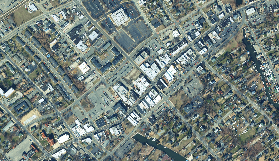 satellite image of downtown bayshore redevelopment project case