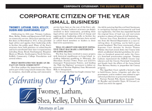 LIBN Corporate citizen of the year award Twomey Latham