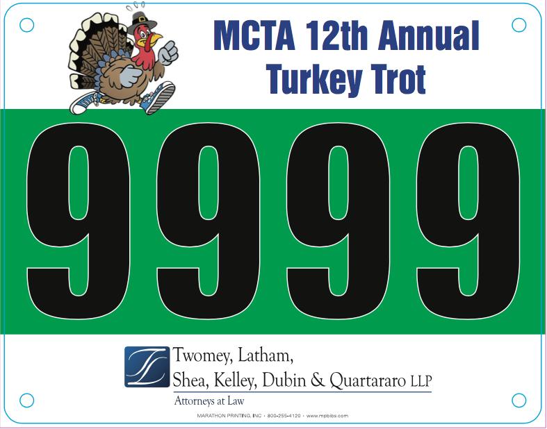 Twomey Latham sponsor 12 annual turkey trot running banner