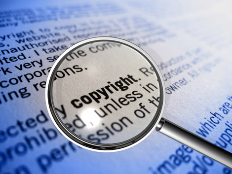 copyright law under magnifying glass