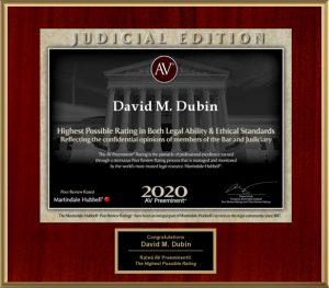 David M. Dubin Judicial Edition