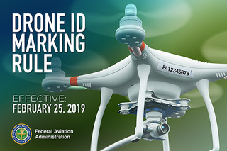 drone id marking rule slide FAA law change