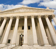 US Supreme Court building front view ACA Obamacare